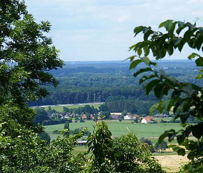Blick von Burg Ravensberg in Borgholzhausen