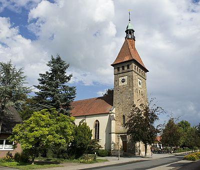 Blick auf die Kirche St. Marien