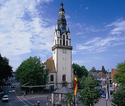 Blick auf die Kirche von Sassenberg