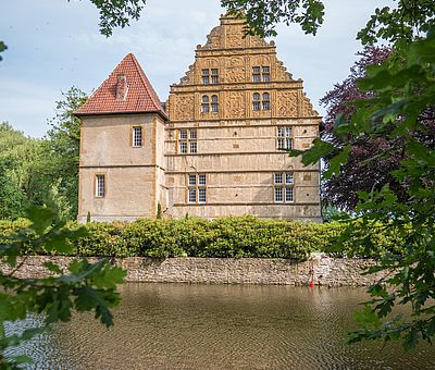 Blick auf Schloss Holtfeld