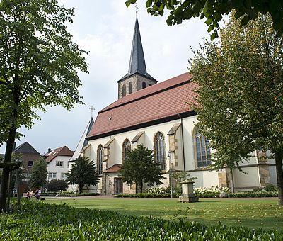 Blick auf die Kirche St. Johannis